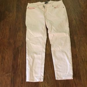 Eileen Fisher pale pink ankle jeans 12p 12 petite